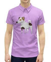 Рубашка Поло с полной запечаткой <b>ДЖЕК</b> РАССЕЛ.СОБАКА ...