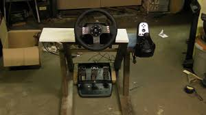 free diy homemade racing rig couch pit for my logitech g27 racing wheel you