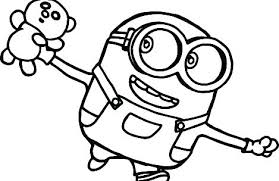 Minion Coloring Pages Printable Free Interesting Minion Coloring