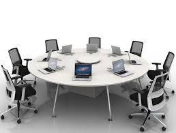 arthur 8 person round desking system