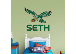 philadelphia eagles classic stacked personalized name fathead wall decal