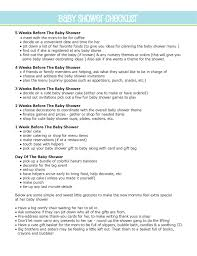 Baby Shower To Do List | Misait.com