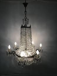 vintage italian crystal chandelier 9