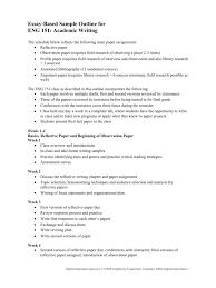 Essay Based Sample Course Outline
