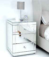 mirrored bedside furniture. fine furniture lucia mirrored bedside table with 3 drawers to furniture i