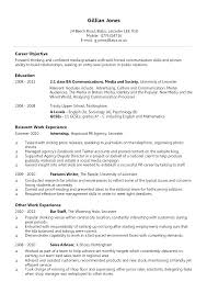 Example Reverse Chronological Resume Template Builder Traditional