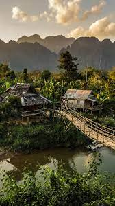 jungle near Vang Vieng Laos [2560x1440 ...