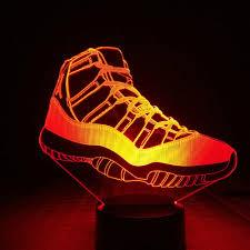 Jordan Shoes With Lights Us 9 65 31 Off Michael Jordan 11 Sneakers Night Light Led 3d Illusion Rgb Decorative Lights Child Kids Table Lamp Bedroom Air Jordan Shoes Men In