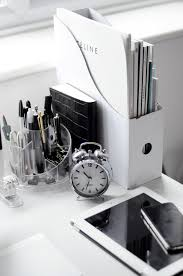 White work desk Kate Writing Diy Home Decorating And Crafts Black And White Office White Desk Top White Desk Pinterest Black And White Workspaces The Work Station Pinterest Home