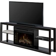 dimplex novara media console electric fireplace black with realogs