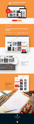 Graphic Design Portfolio Psd File Free Download Portfolio Template Psd Html Free Download On Behance