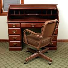 vintage office desk. Roll Top Office Desk Cherry Finished With Vintage Chair Coaster