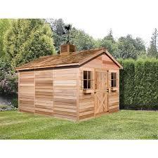 ft x 16 ft cedar storage shed