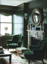 New Dark Green Living Room Furniture Interior Designing Best Chairs Ideas  On Velvet Hunter Lacquered Walls And Tufted Diamond World Of Interiors Des
