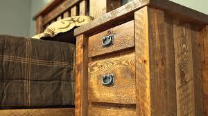 Superb Barnwood Bedroom Furniture   Viking Log Furniture   YouTube