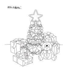 Kleurplaat Teddy Met Kerstboom