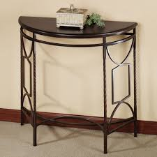metal hall table. Beautiful Painted Demilune Table With Black Legs Metal Hall M