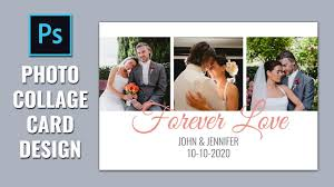 Wedding Card Collage How To Design Wedding Card Photo Collage In Photoshop Youtube