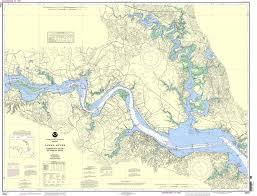 Noaa Nautical Charts For Sale Noaa Nautical Chart 12251 James River Jamestown Island To