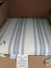 ticking stripe outdoor seat cushion