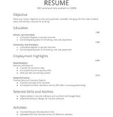 Simple Resume Sample Delectable Simple Resume Doc Simple Sample Resume Format Basic Resume Sample