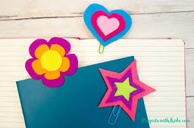 Flower Paper Clips How To Make Easy Felt Paper Clip Bookmarks Projects With Kids