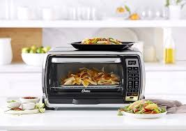 oster large digital countertop convection toaster oven 6 slice black polished stainless