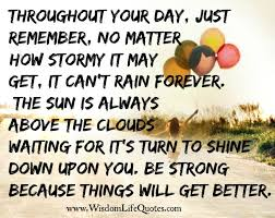 Things Will Get Better Quotes Gorgeous Be Strong Things Will Get Better Wisdom Life Quotes