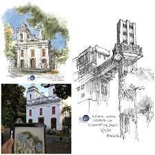 Urban Sketchers Brasil: Desenhos do 3º Encontro USK Brasil em Salvador