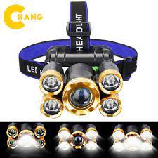 sx6319] Đèn Pin Đội Đầu Đeo Trán 5 Bóng T6 Siêu Sáng Kèm Pin Sạc Siêu Tiện  Lợi tại Hà Nội