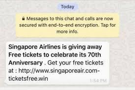 Phishing Scam Singapore Airlines Warns Of Phishing Scam Promising Free