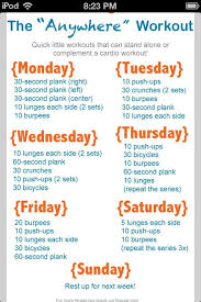 weekly workout plan perfect for at home