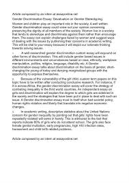 cause effect essay discrimination cause and effect of gender essay topics buy custom cause and
