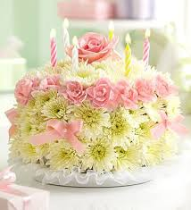 Birthday Wishes Flower Cake Pastel Cutegreat Things To Think