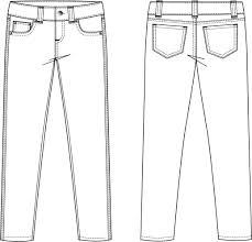 Shorts Design Template Dress Pants Template Pants Fashion Design Sketches Flat