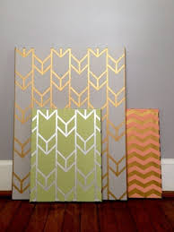 Gold Stenciled Canvas. Gold CanvasCanvas Wall ArtDiy ...