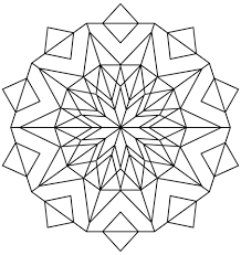Small Picture Kaleidoscope coloring page Free Printable Coloring Pages