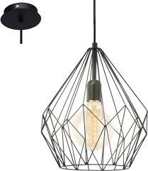 Eglo Vintage Carlton Hanglamp 1 Lichts ø310mm Zwart