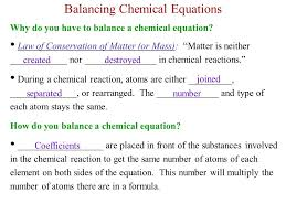 why do we have to balance chemical equations jennarocca