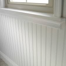 a lower interior wall surface that contrasts with the wall surface above it and is generally 3 to 4 feet in height often with a chair rail added to its top