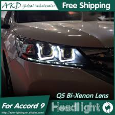 2014 Honda Accord Lights Us 457 65 19 Off Akd Car Styling For Honda Accord Headlights 2014 2015 New Accord 9 Led Headlight Led Drl Bi Xenon Lens High Low Beam Parking In Car