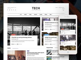 Creative Newspaper Template Technews Free Bootstrap Html5 Magazine Website
