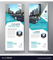 Business Banner Design Business Roll Up Standee Design Banner Template Vector Image