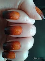 Halloween Gel Nail Designs 2018 Glitter Orange And Black Ombre Nails Halloween Nails