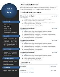 Curriculum Vitae Resume Templates #386 To 391 – Free Cv Template Dot Org