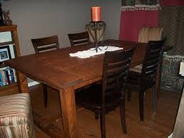 homemade dining room table wood and 4 chairs