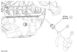 engine block heater plug location ford mustang forum this image shows the location on the 5 0l