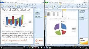 Microsoft Office 2010 Starter For Windows 10 8 7 Word 2010 Excel 2010 Starter