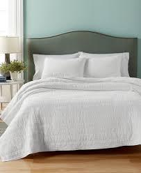 Martha Stewart Bedroom Furniture Martha Stewart Collection Eyelash Stripe Full Queen Quilt Only At