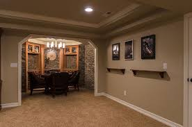 ... Simple And Neat Ideas For Finished Basement Decoration Design : Awesome  Basement Interior Design And Decoration ...